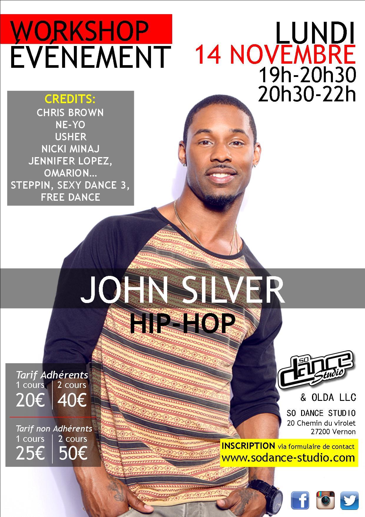 WORKSHOP - JOHN SILVER - 14 NOVEMBRE